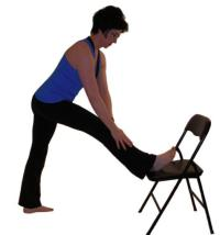 knee stretching hamstrings