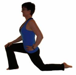 exercises for senior - hip flexor stretch
