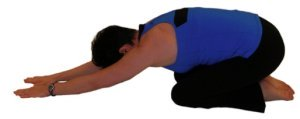 kneeling lumbar flexion stretch