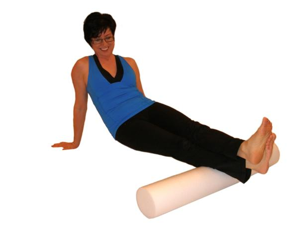 calf stretch with foam roller