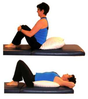 back extension over pillow