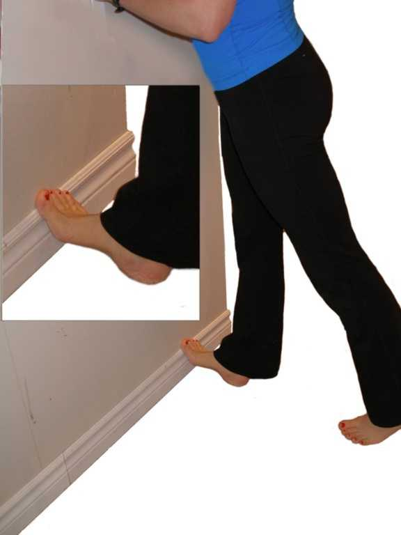 calf stretch -wall