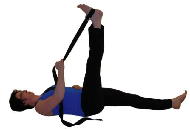 hamstring stretch with strap