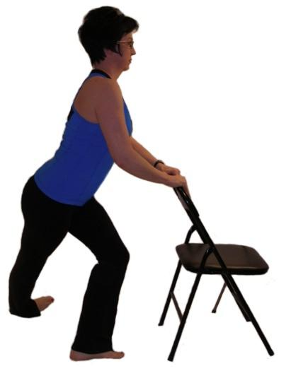 iliotibial band chair stretch