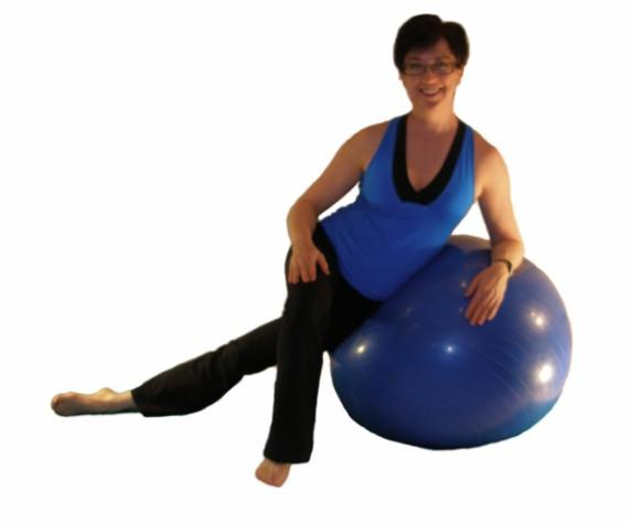 iliotibial band ball stretch