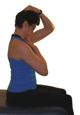 exercises for seniors - stretch into neck flexion
