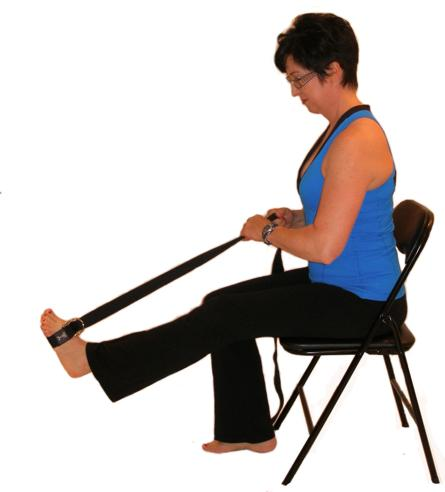calf stretch with strap